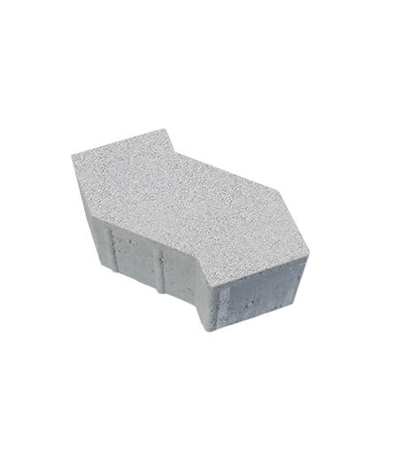 Тротуарная плитка S-Форма Стандарт, белый, 100 мм