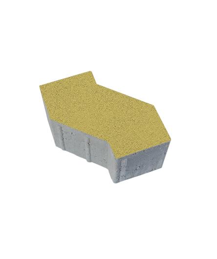 Тротуарная плитка S-Форма Стандарт, желтый, 100 мм