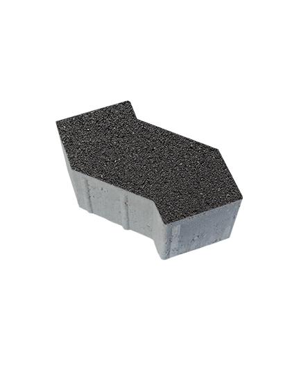Тротуарная плитка S-Форма Гранит, черный, 100 мм
