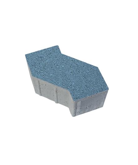 Тротуарная плитка S-Форма Гранит, синий, 100 мм