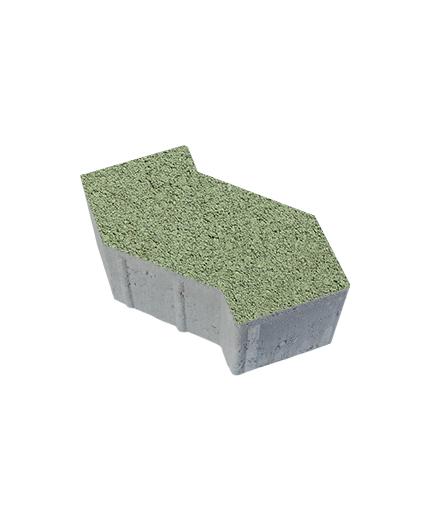 Тротуарная плитка S-Форма Гранит, зеленый, 100 мм