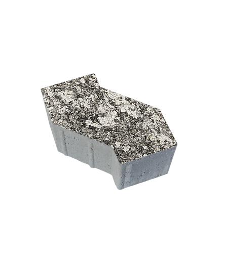 Тротуарная плитка S-Форма Листопад Гранит Антрацит, 100 мм