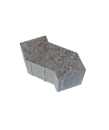 Тротуарная плитка S-Форма Искусственный камень Базальт, 100 мм