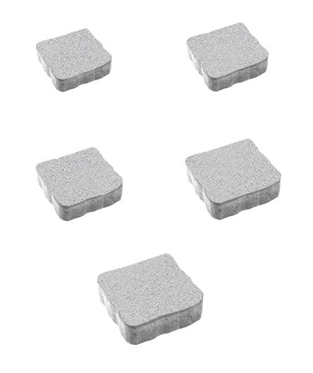 Тротуарная плитка Антик Стандарт, белый, 60 мм