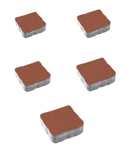 Тротуарная плитка Антик Стандарт, красный, 60 мм