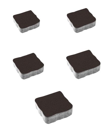 Тротуарная плитка Антик Стандарт, коричневый, 60 мм