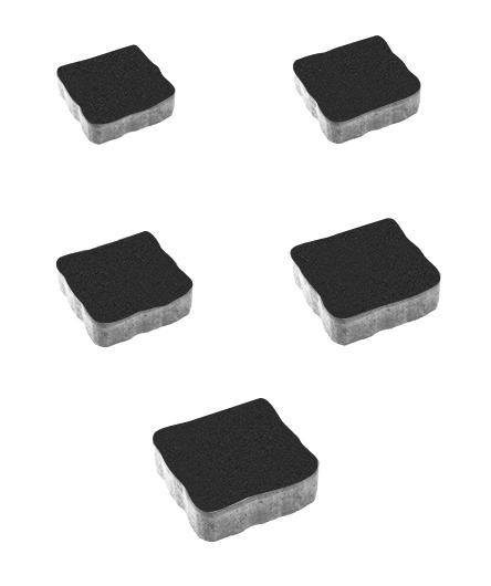 Тротуарная плитка Антик Стандарт, черный, 60 мм