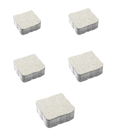 Тротуарная плитка Антик Гранит, белый, 60 мм