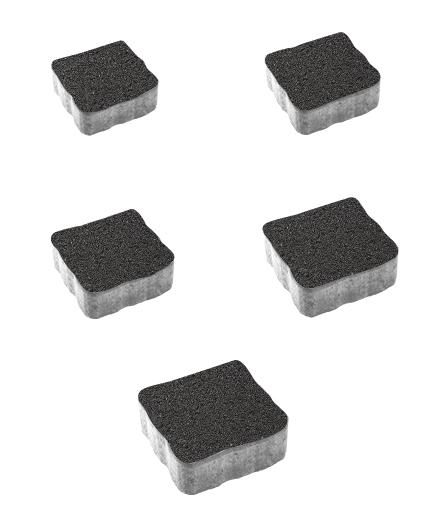 Тротуарная плитка Антик Гранит, черный, 60 мм
