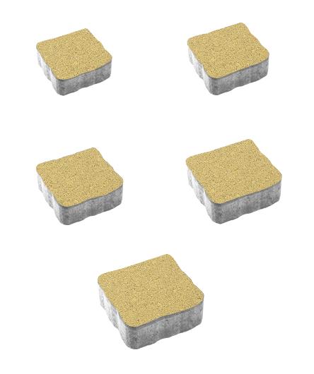 Тротуарная плитка Антик Гранит, желтый, 60 мм