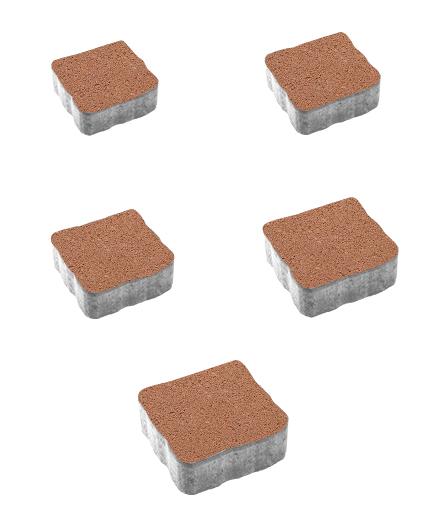 Тротуарная плитка Антик Гранит, оранжевый, 60 мм