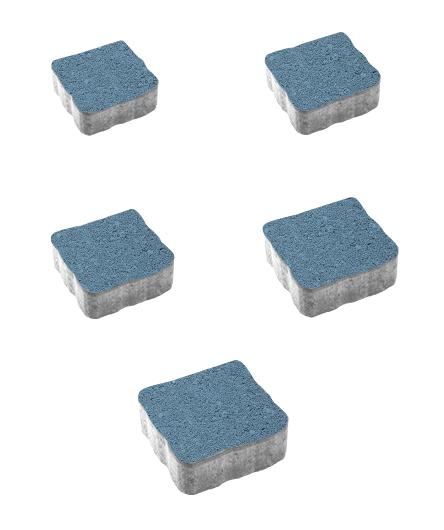 Тротуарная плитка Антик Гранит, синий, 60 мм