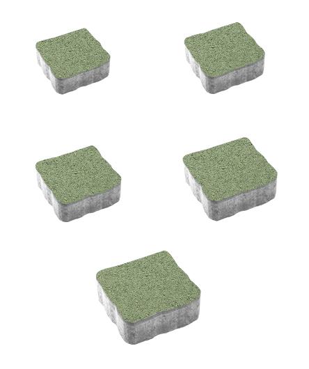 Тротуарная плитка Антик Гранит, зеленый, 60 мм