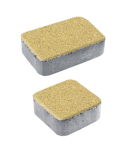 Тротуарная плитка Классико А1 Гранит плюс, желтый с черным, 40 мм