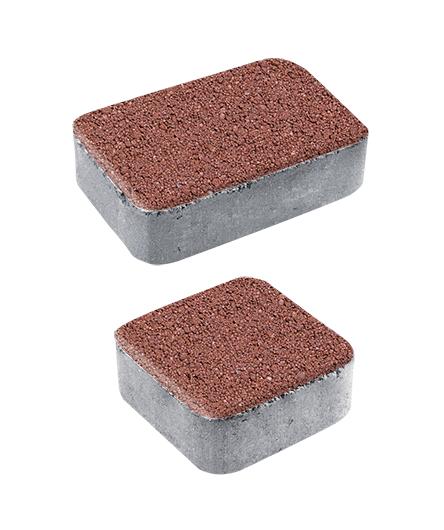 Тротуарная плитка Классико А1 Гранит плюс, красный с черным, 40 мм