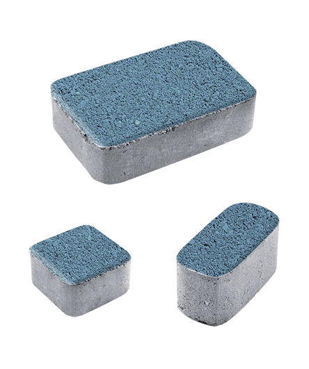 Тротуарная плитка Классико Б1 Гранит, синий, 60 мм
