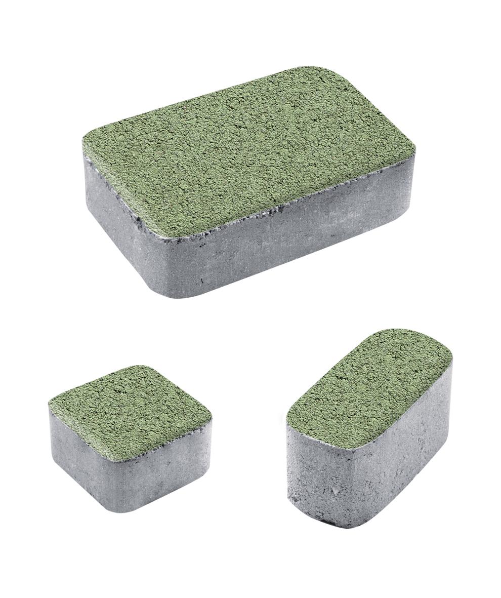 Тротуарная плитка Классико Б1 Гранит, зеленый, 60 мм
