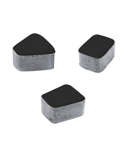 Тротуарная плитка Классико Б2 Стандарт, черный, 60 мм