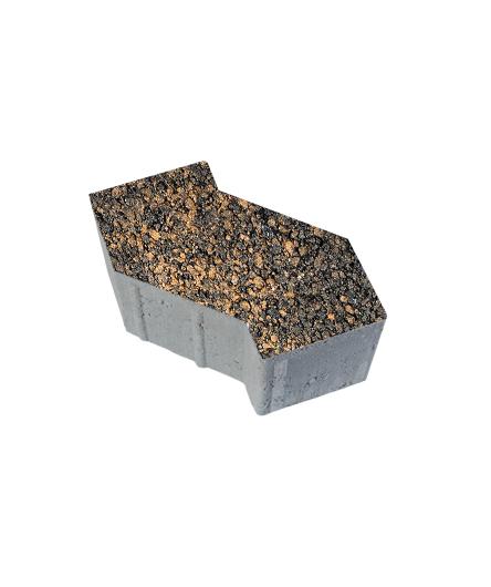 Тротуарная плитка S-Форма Листопад Гладкий Мустанг, 100 мм