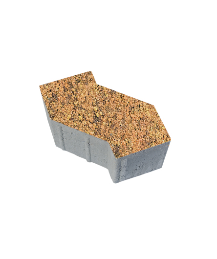 Тротуарная плитка S-Форма Листопад Гладкий Саванна, 100 мм
