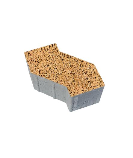 Тротуарная плитка S-Форма Листопад Гладкий Сахара, 100 мм