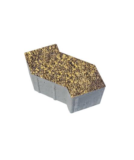Тротуарная плитка S-Форма Листопад Гладкий Янтарь, 100 мм