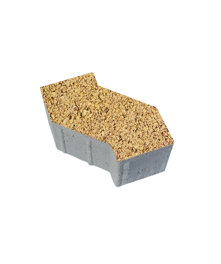 Тротуарная плитка S-Форма Листопад Гранит Каир, 100 мм