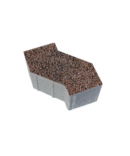 Тротуарная плитка S-Форма Листопад Гранит Клинкер, 100 мм