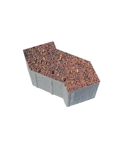 Тротуарная плитка S-Форма Листопад Гранит Осень, 100 мм