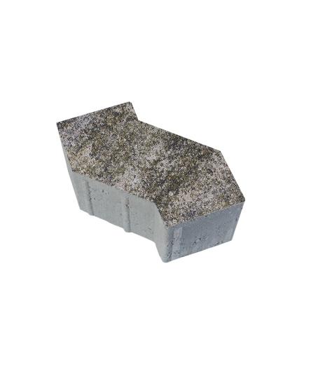 Тротуарная плитка S-Форма Искусственный камень Габбро, 100 мм