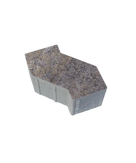 Тротуарная плитка S-Форма Искусственный камень Доломит, 100 мм