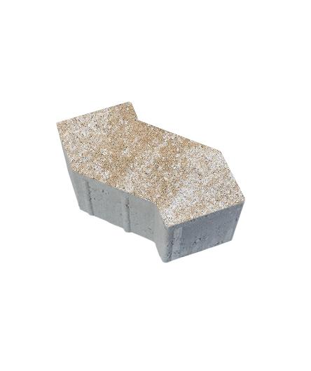 Тротуарная плитка S-Форма Искусственный камень Степняк, 100 мм