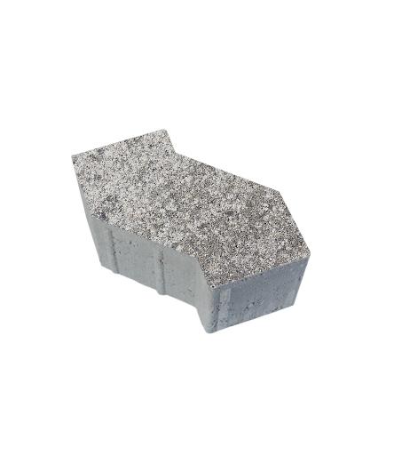 Тротуарная плитка S-Форма Искусственный камень Шунгит, 100 мм