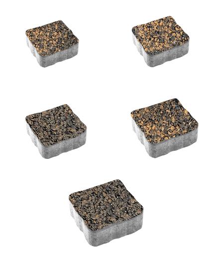 Тротуарная плитка Антик Листопад Гранит Мустанг, 60 мм