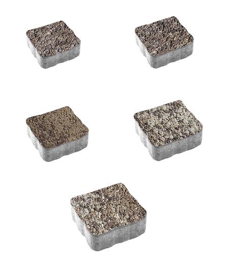 Тротуарная плитка Антик Листопад Гранит Хаски, 60 мм