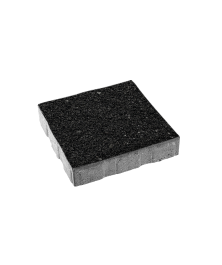 Тротуарная плитка Квадрум Б.5.К.6 Стоунмикс черный, 60 мм