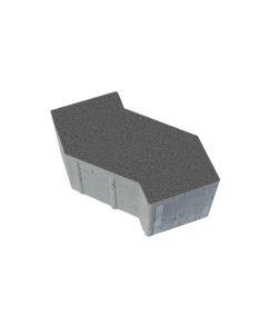 Тротуарная плитка S-Форма Стандарт, серый, 100 мм