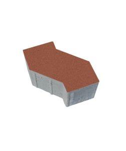 Тротуарная плитка S-Форма Стандарт, красный, 100 мм