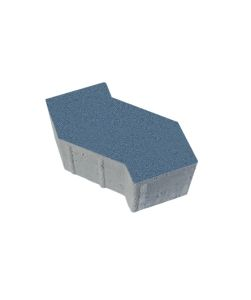 Тротуарная плитка S-Форма Стандарт, синий, 100 мм