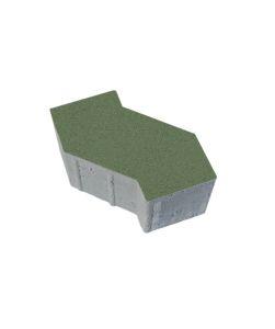 Тротуарная плитка S-Форма Стандарт, зеленый, 100 мм