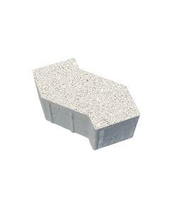 Тротуарная плитка S-Форма Гранит, белый, 100 мм