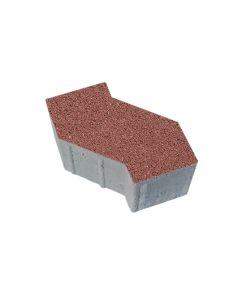 Тротуарная плитка S-Форма Гранит, красный, 100 мм