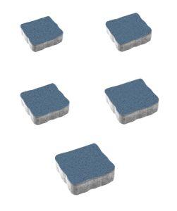 Тротуарная плитка Антик Стандарт, синий, 60 мм