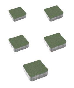 Тротуарная плитка Антик Стандарт, зеленый, 60 мм