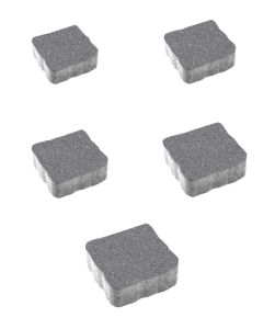 Тротуарная плитка Антик Гранит, серый, 60 мм