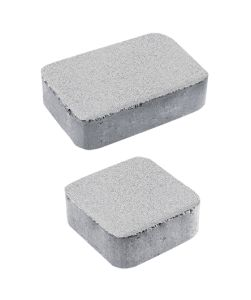 Тротуарная плитка Классико А1 Стандарт, белый, 40 мм