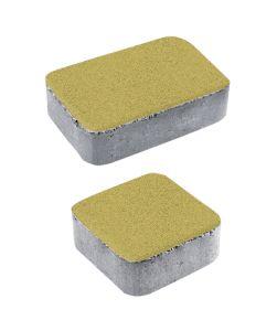 Тротуарная плитка Классико А1 Стандарт, желтый, 40 мм