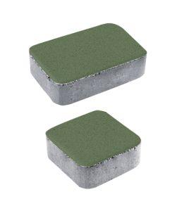Тротуарная плитка Классико А1 Стандарт, зеленый, 40 мм