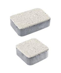 Тротуарная плитка Классико А1 Гранит, белый, 40 мм