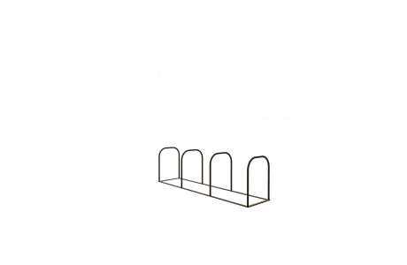 Велопарковка на 4 дуги V-005-4